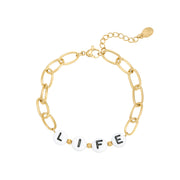 Armband met quote 'LIFE'