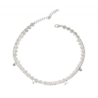 Halsketting choker 2 in 1 zilver