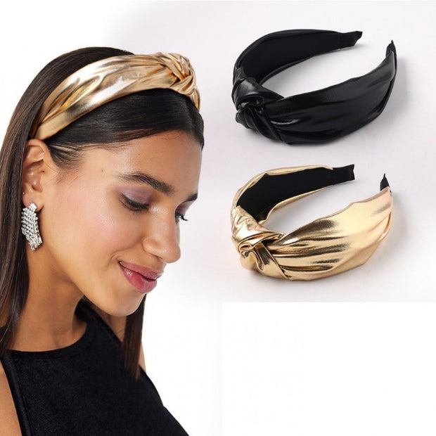Headband glanzend goud