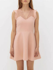 Nude mini-jurk