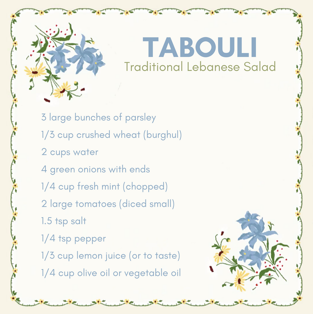 Tabouli Ingredients