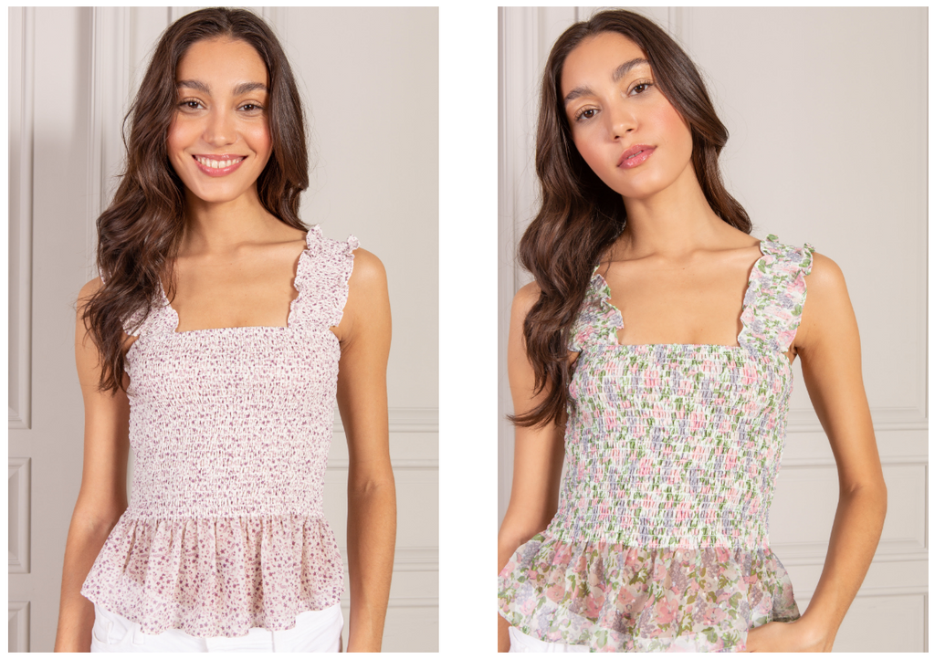 Bestselling Audrey Smocked Crop Top