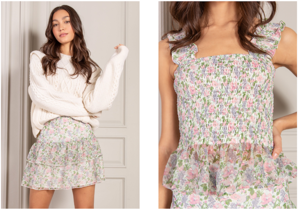 Mix and Match spring florals and knits