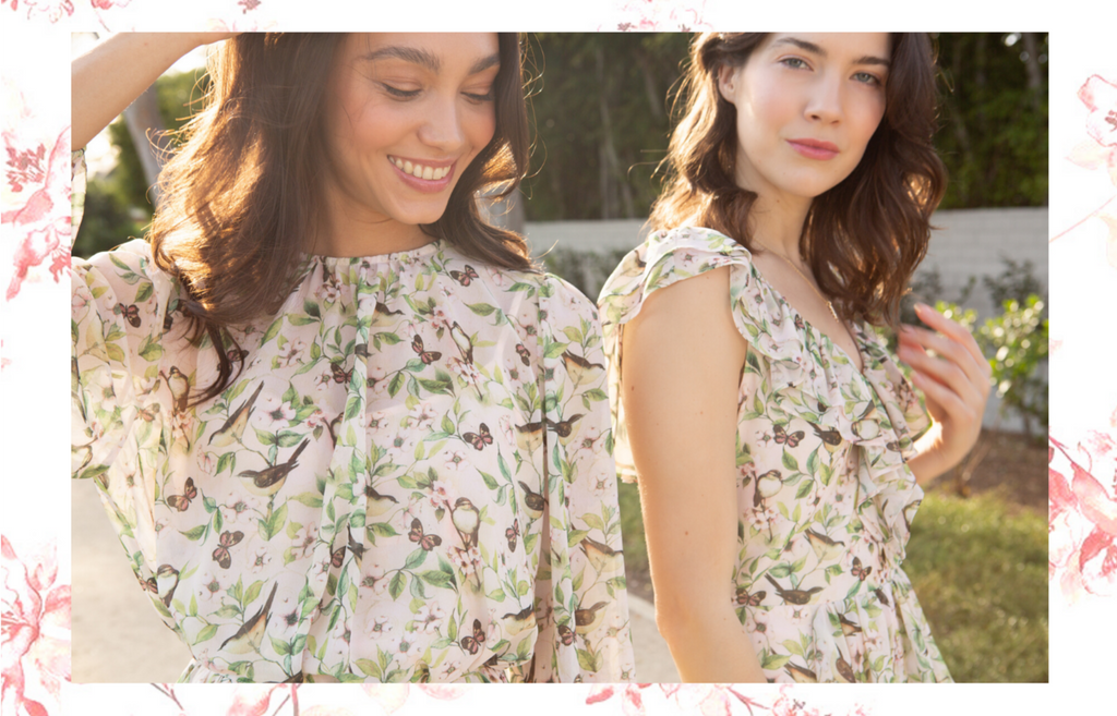 New Spring Collection, Pink Bird Print