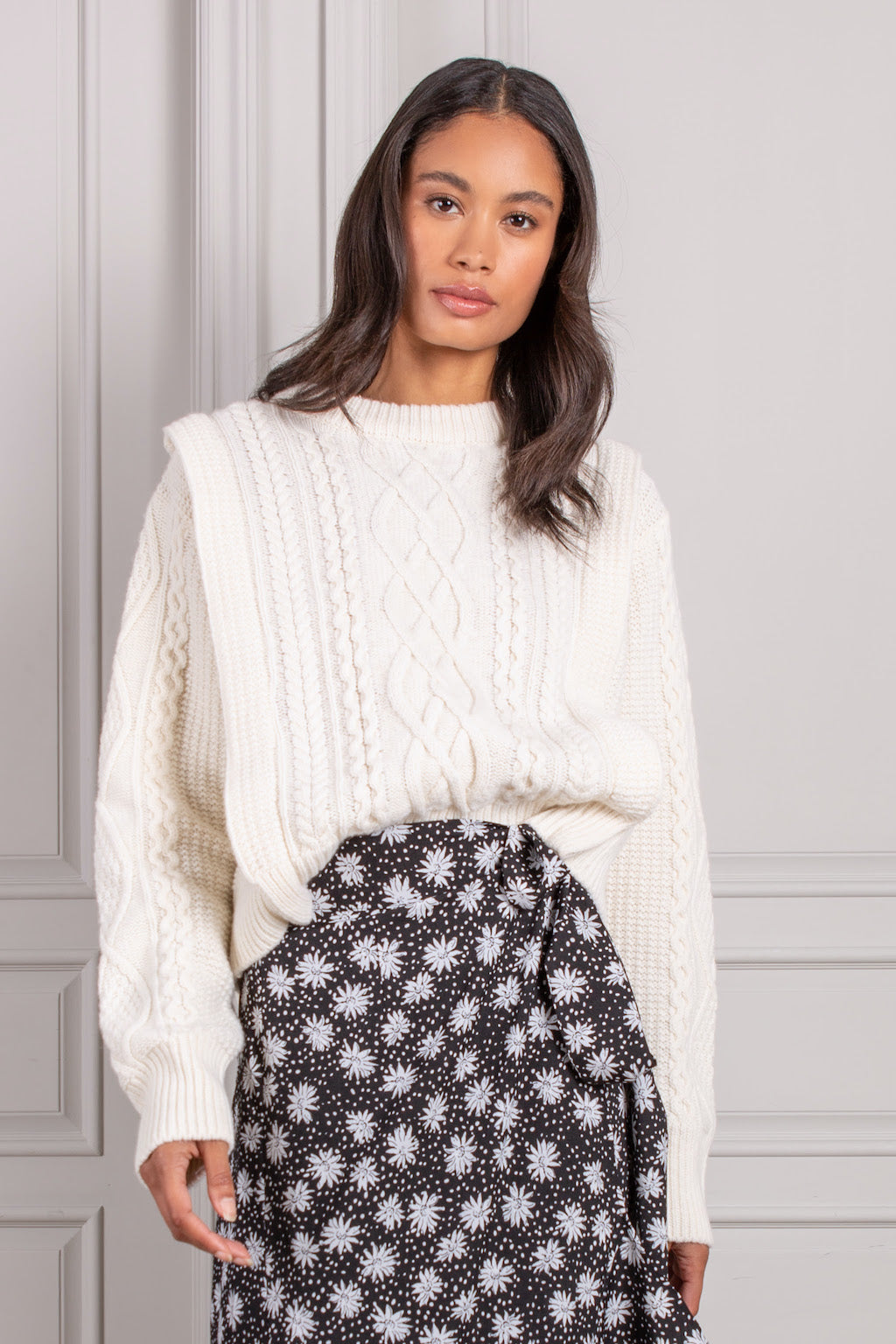 Edie cableknit sweater
