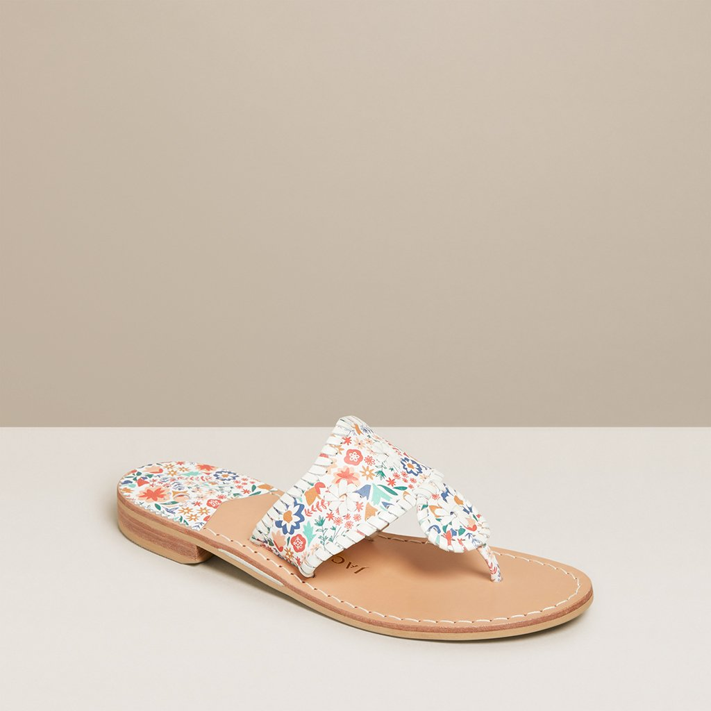 Jacks Flat Floral Icon Sandal JACKS JACK ROGERS LLC