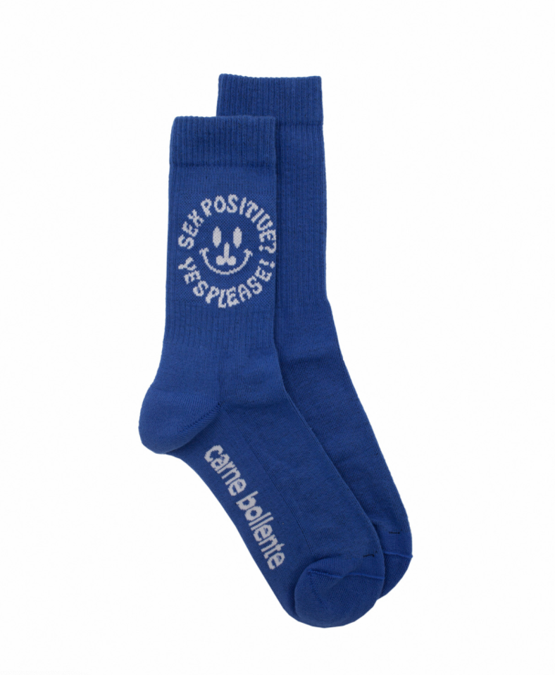 Sex Positive socks blue