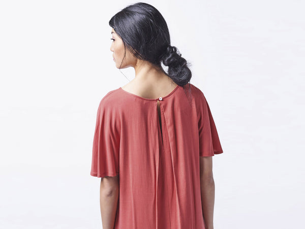 Byron dress red