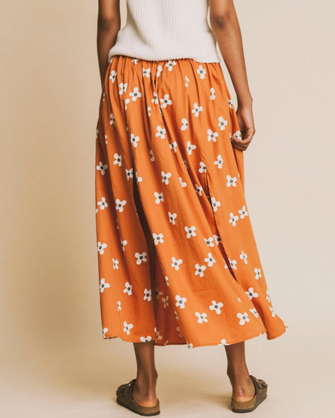 Molopo flowers skirt terracota