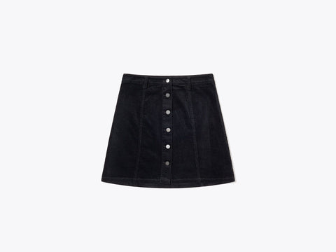 Asja Corduroy skirt black