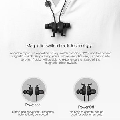QCY QY12  Wireless Bluetooth Sports Earphones - Epic Sounds