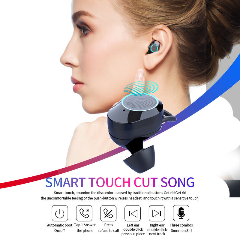 QCR G02 Wireless Bluetooth Earbuds With Power Bank And Phone Holder Capability