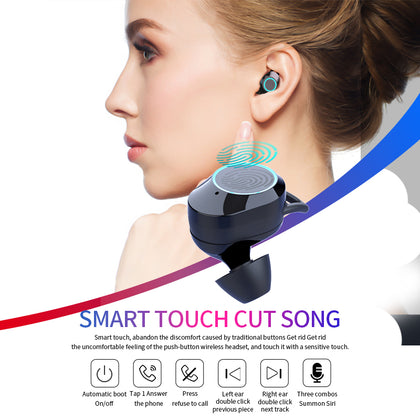QCR G02 Wireless Bluetooth Earbuds With Power Bank And Phone Holder Capability - Epic Sounds