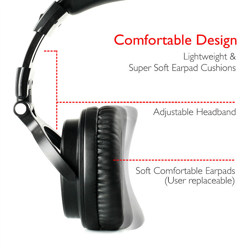 Oneodio  Wireless Bluetooth Foldable Headphones With Extended Microphone