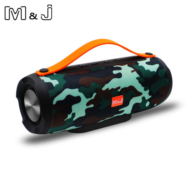 M&J Portable Wireless Bluetooth Column Subwoofer Speaker