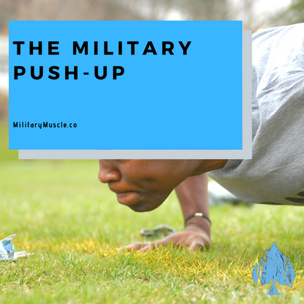 soldier doing push-up