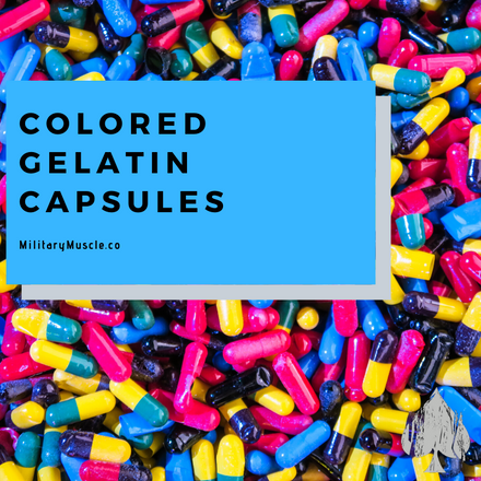 Colored Gelatin Capsules