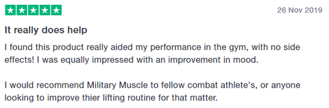 trustpilot military muscle review