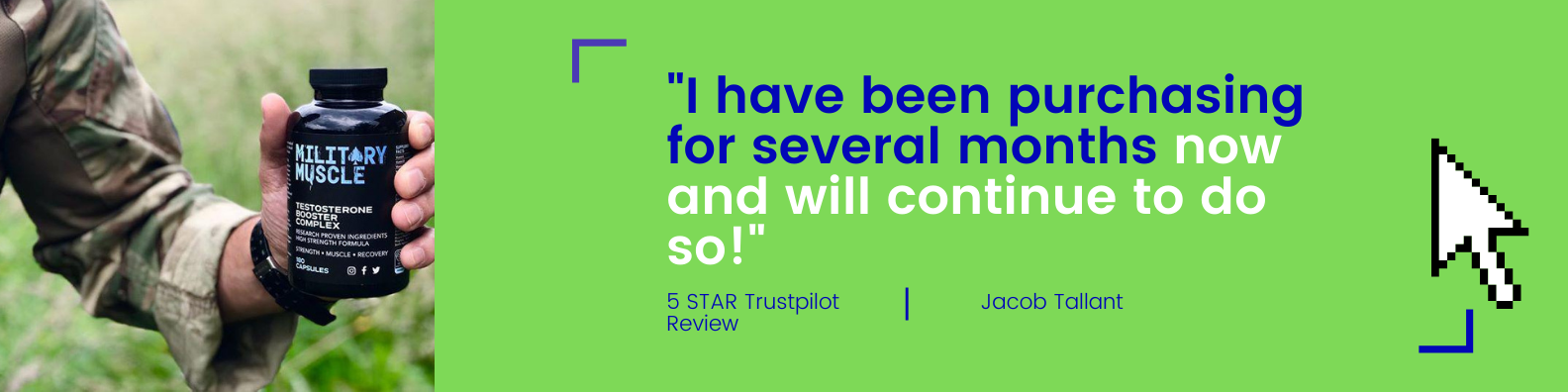 5 star military muscle customer review trustpilot