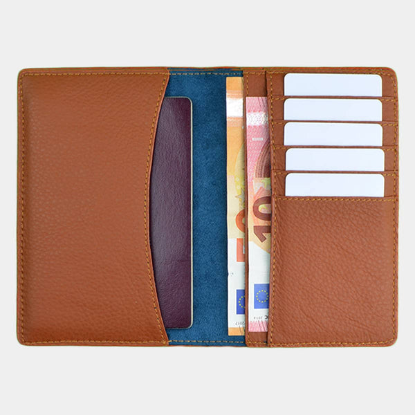 BEAUMOUR ETUI PASSEPORT CUIR MARRON BORDING PASS