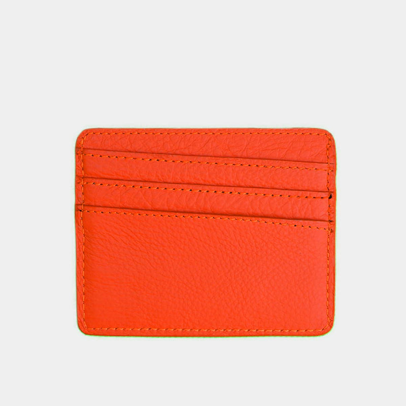 BEAUMOUR PORTE CARTES CUIR ORANGE HERMES