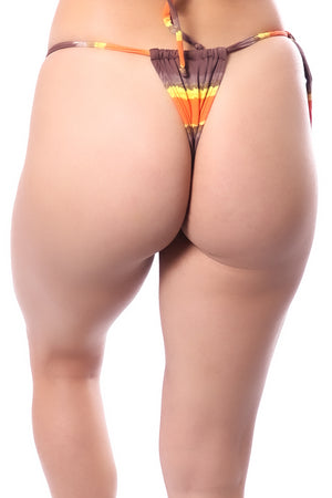 Bikini Bottom, Star/Triangle Design, Streaked Color