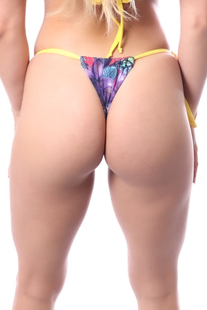 Bikini Bottom, Mirror Design, Flowery Color