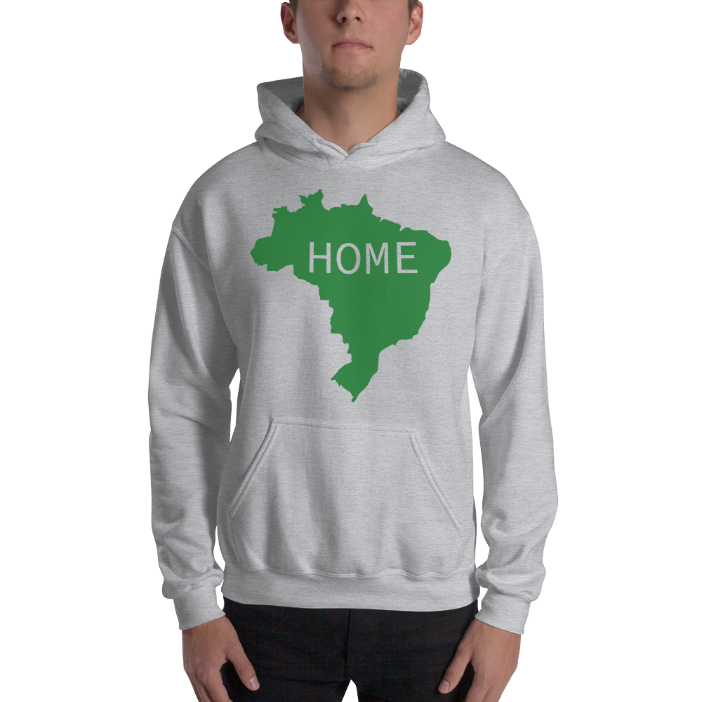 Home, Brasil, Men's & Women's Hooded Sweatshirt