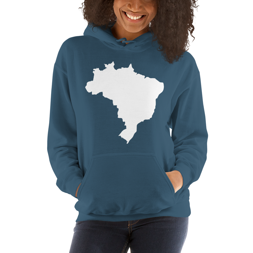 Brasil, Men's and Women's Hooded Sweatshirt