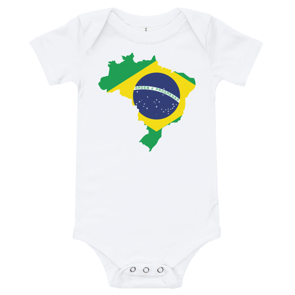 Brasil with Flag, Baby Onesie