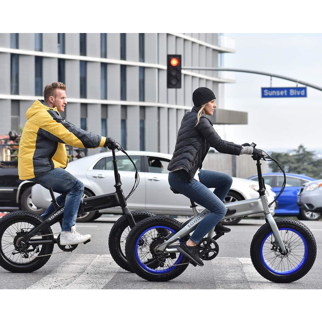 SONDORS Fold X Premium Folding Electric Bike, 20 mph, 7-Speed, Thumb  Throttle, 500 watt Motor, Li-ion Battery, Electric Pedal Assist
