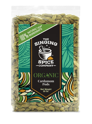 Organic Cardamom Pods freeshipping - The Singing Spice Company