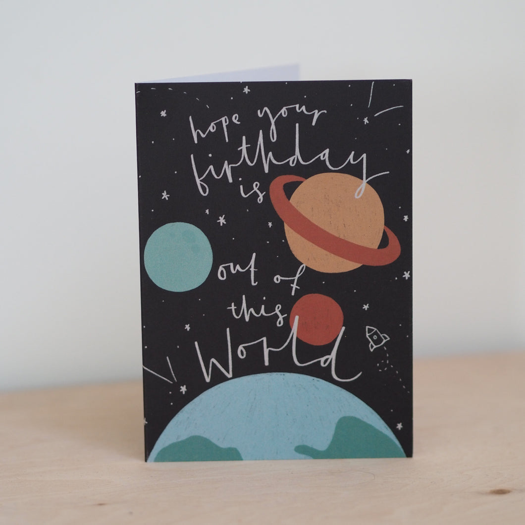 Space Birthday Card
