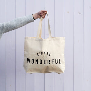 Life Is Wonderful Tote - Black