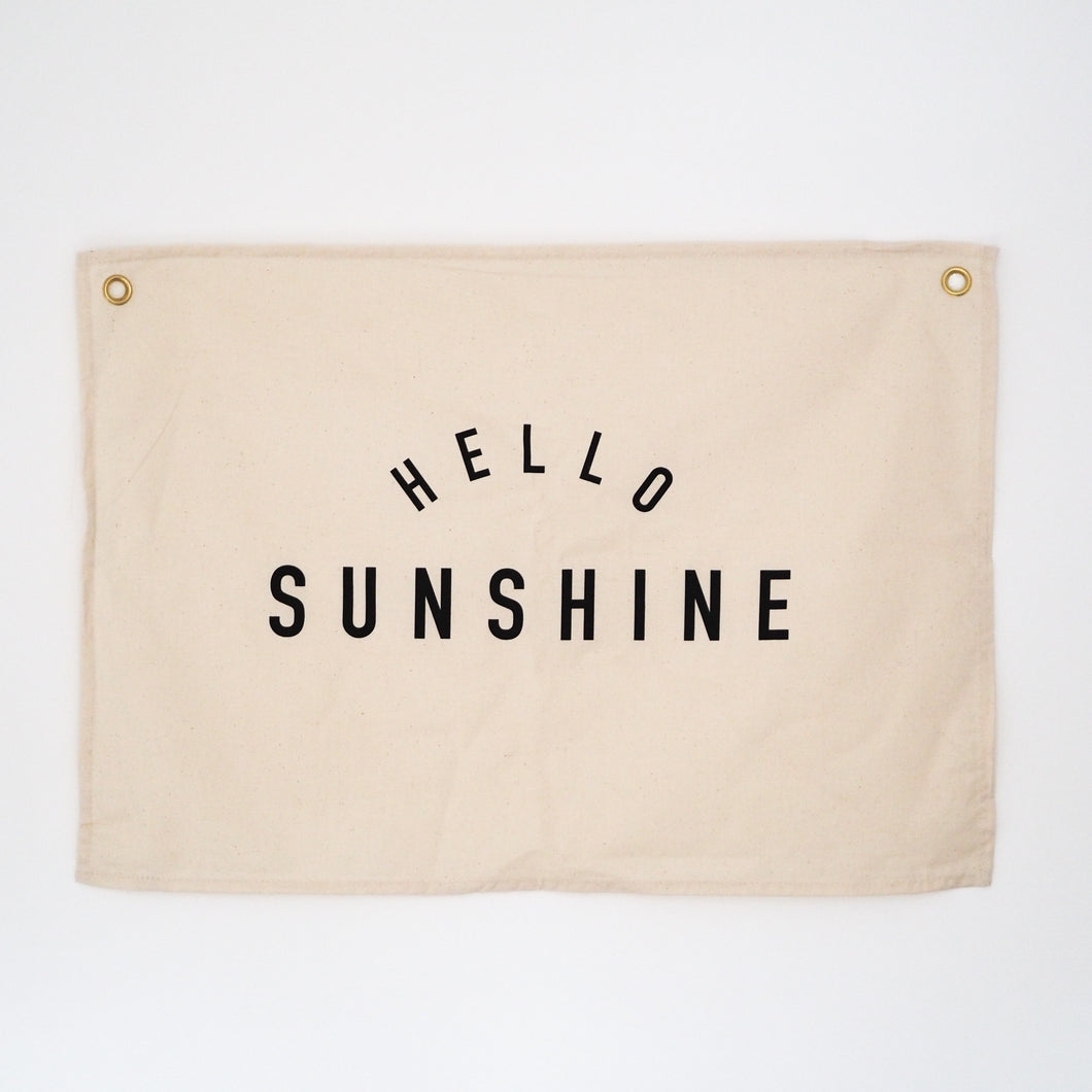 Hello Sunshine Wall Flag