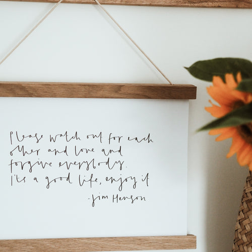 Jim Henson Quote - Print