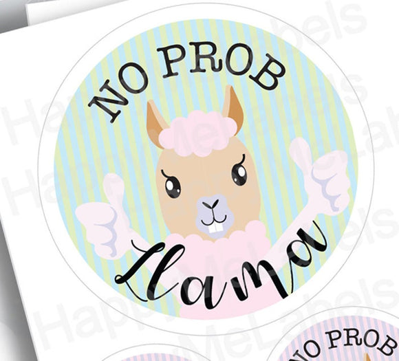 No Prob Llama | Sticker Pack | creations | Llama fun | pastel colors | laptop decor | journal
