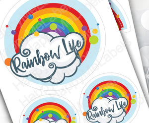 Rainbow Life Pack | 14 stickers | colorful | vinyl stickers | Pride | laptop decor | journal