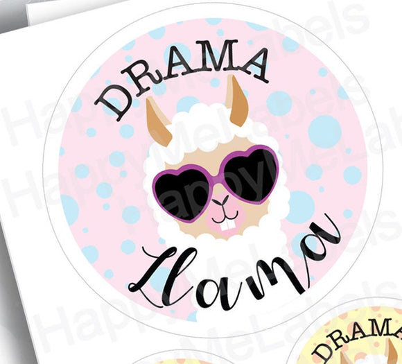 Drama Llama | Sticker Pack | creations | Llama fun | pastel colors | laptop decor | journal