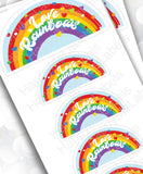 Love Rainbows Pack | 12 stickers | colorful | vinyl stickers | Pride | laptop decor | journal