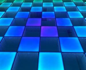 10x20 LED Solid Infinity Dance Floor Rental