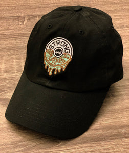 Fresh Mint Chocolate Chip Drip Dad Hat (Black)