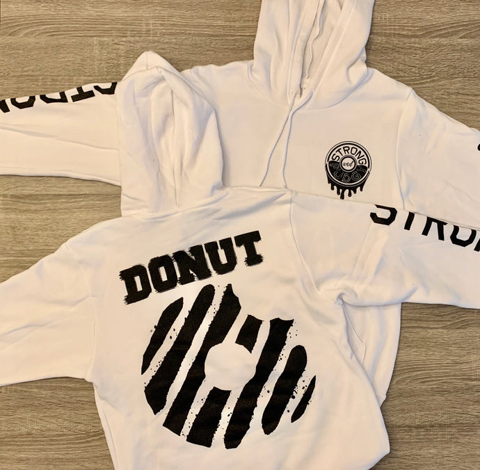 Black x White Powdered Donut Hoodie