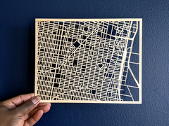 PhillyLoveNotes Custom Laser Cut Map