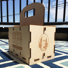 Load image into Gallery viewer, Ben Franklin: Laser Cut Drink Tote