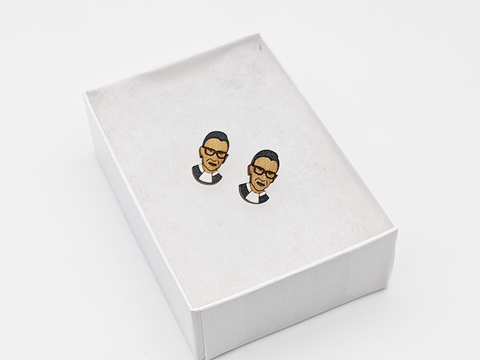 Notorious RBG Stud Earrings