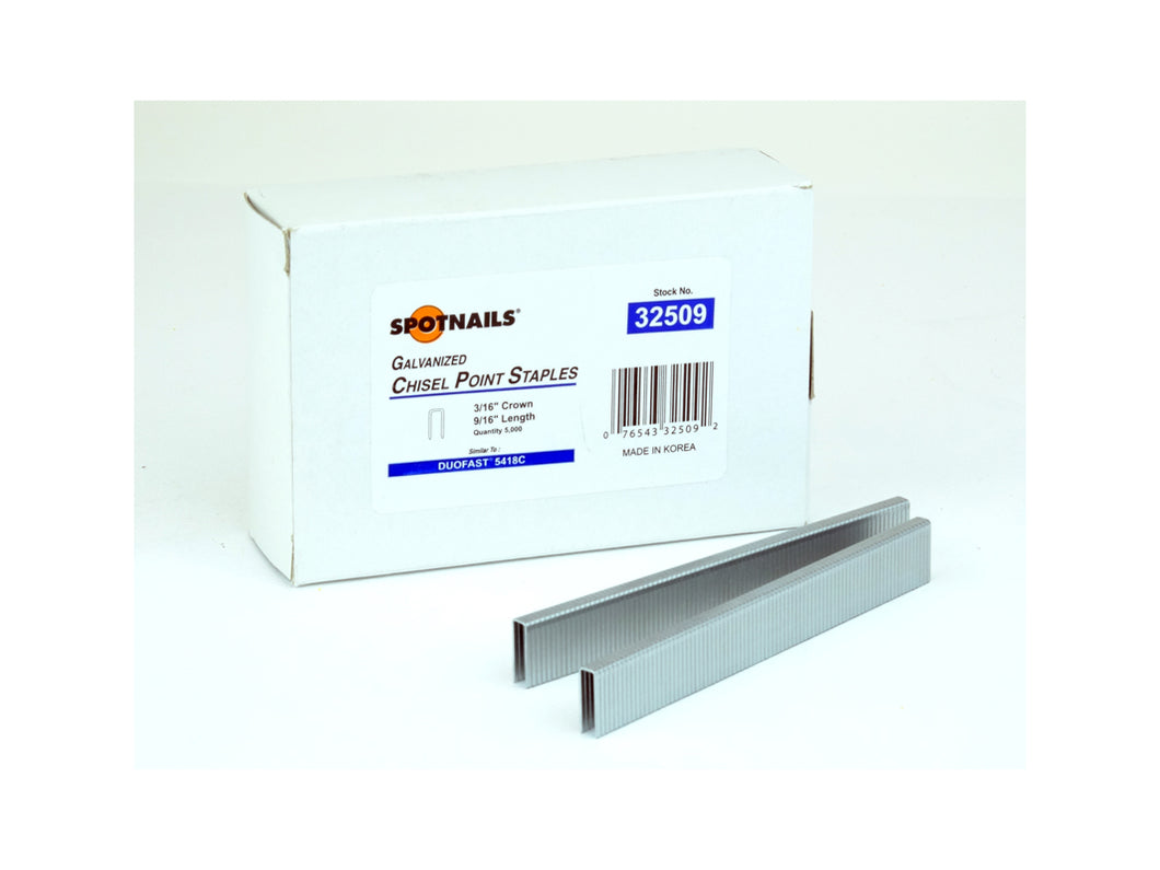 Spotnails 32509 Duo-Fast 54 Series Staples