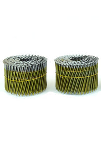 "Coil Nails .120 x 3.25"" 15 Degree Wire Flat Coil Fencing Siding Ring Nails - Spotnails CW12D120R (3,600)"