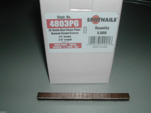 Spotnails 4803PG 18 Gauge Narrow Crown Senco L staples