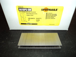 "Spotnails 8616PS 2"" Paslode GS16 Staples"